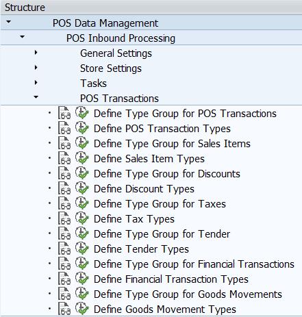 POSDTA POS Transactions settings